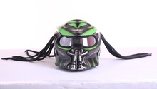 Серый/матовый серый зеленый маски хищников стекловолокна neca moto rcycle шлем полный уход за кожей лица Железный человек в горошек M, L, XL