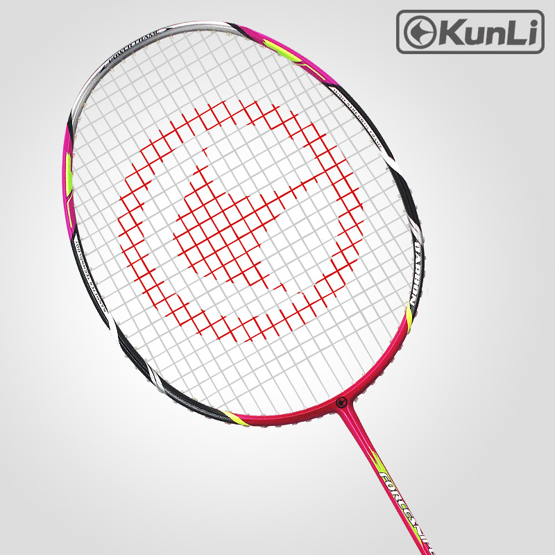 Original KUNLI Official Badminton Racket 5U 79g FORCE79 Pink Full Carbon Ultra Light Attack Racket Professional Feather Racket