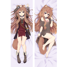 Hot Anime The Rising of the Shield Hero Hugging body Pillow Cover Case Raphtalia Bedding Dakimakura Pillowcases