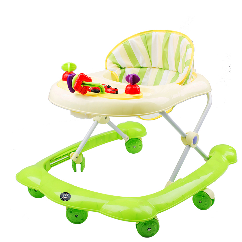 6-18Months Baby Balance First Steps Car Early Educational Music Adjustable Baby Walker K ...
