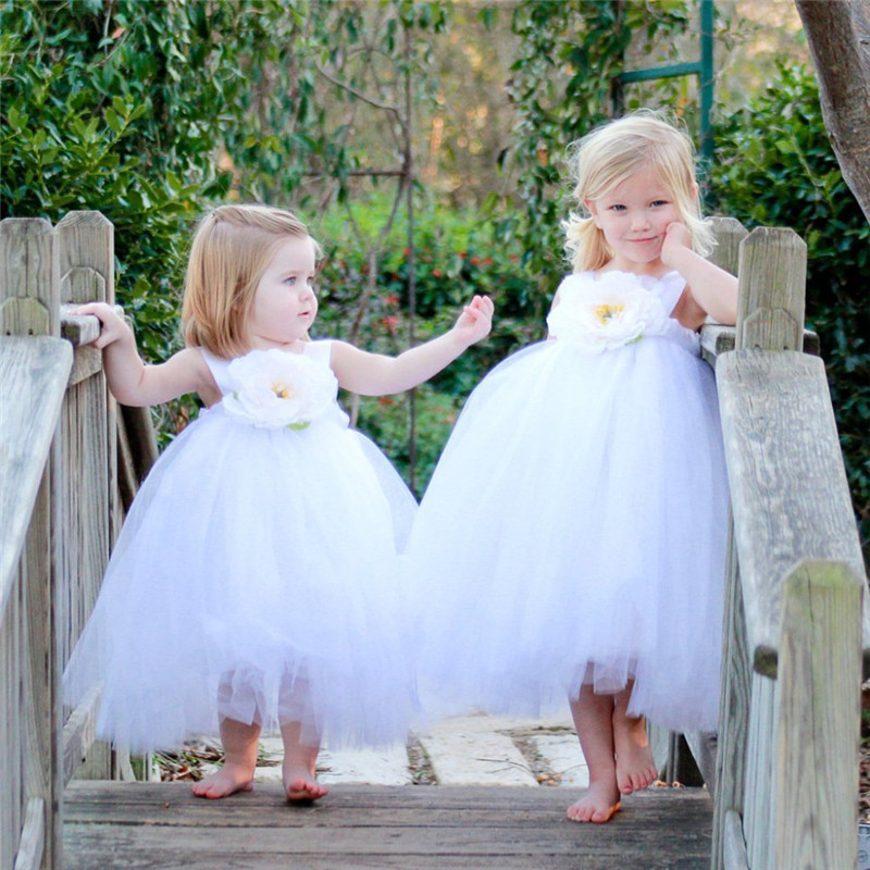 d4bb73fdd10 Children Clothing Girl Kids Clothes Tulle Flower Girls Dress For Wedding  Events Party Baby Girl Birthday Dress Frocks Ceremonies-in Dresses from  Mother ...