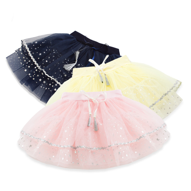 2016  New Style Fashion Children's Garment Girl Baby Little Yarn Half-body Girl Parachute Skirt Full Short Skirt You