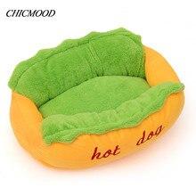 Хот-дог кровать Pet зимней кровати моды диван подушки поставляет теплый дом собаки Pet спальный мешок уютный щенок гнездо питомник