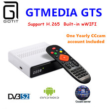 GT Media GTS DVB-S/S2 Satellite Receiver Android 6.0 TV BOX 2GB/8GB BT4.0 Smart TV box+1 Year Europe Spain Poland Portugal CCcam