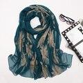 2016 новый мори девушка женская вышитые осенью и зимой качество вышивки долго дизайн шелковый шарф мыс