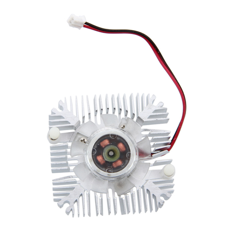 PC VGA Video Card 2 Pin 55mm Cooler Cooling Fan Heatsink 4800 RPM