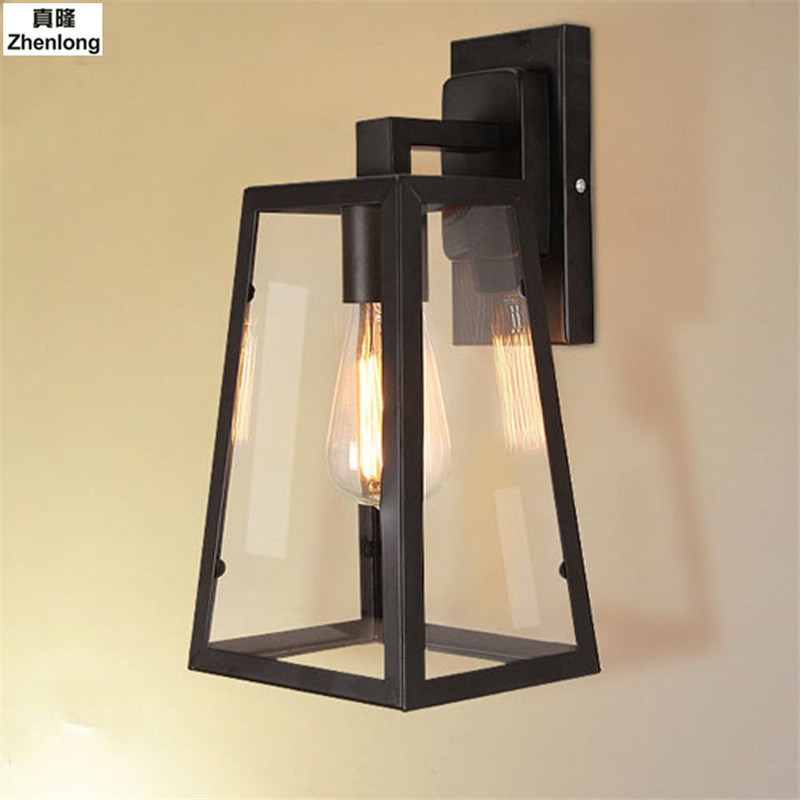 Loft Wall Lamp American Retro Country Loft Style LED Lamps Industrial Vintage Iron Wall Light for Bar Cafe Home Lighting new classic wall light vintage creative iron lamps american style iron antique wall lamp bed room lighting top glass home decor