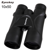 Sale Binoculars 10X50 Eyeskey Camping Hunting Scopes Waterproof Binoculars Telescopes Bak4 Prism Optics Hunting Binocular Strap