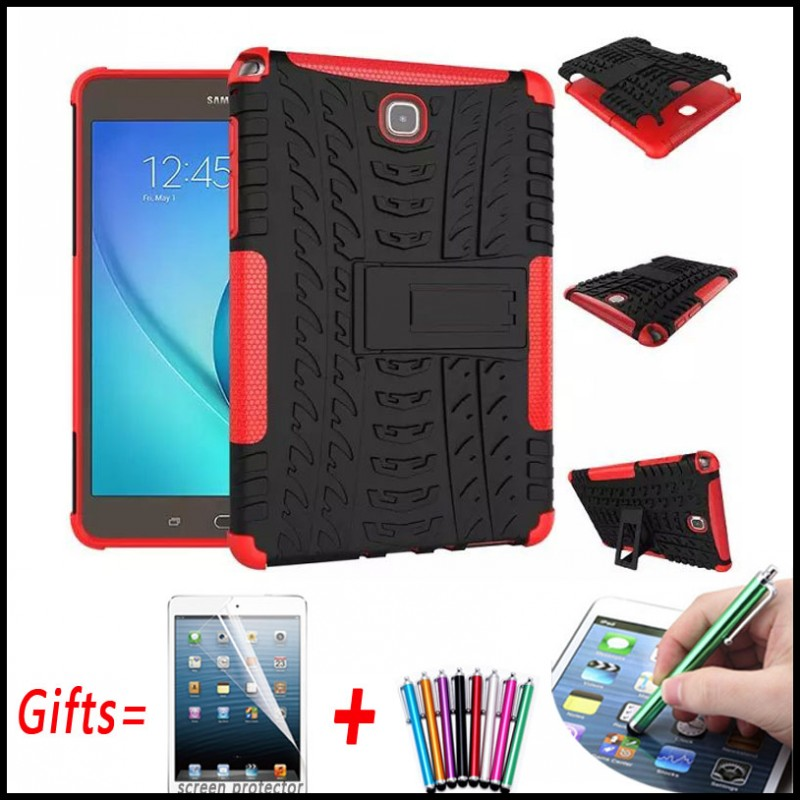 Heavy Duty Hybrid Armor Hard Cover For Samsung Galaxy Tab A 8.0 T350 T355 Case for Samsung Galaxy Tab A 8.0 P350 P355 with Stand hh xw dazzle impact hybrid armor kickstand hard tpu pc back case for samsung galaxy tab a 8 0 inch p350 p355c t350 t355 sm t355