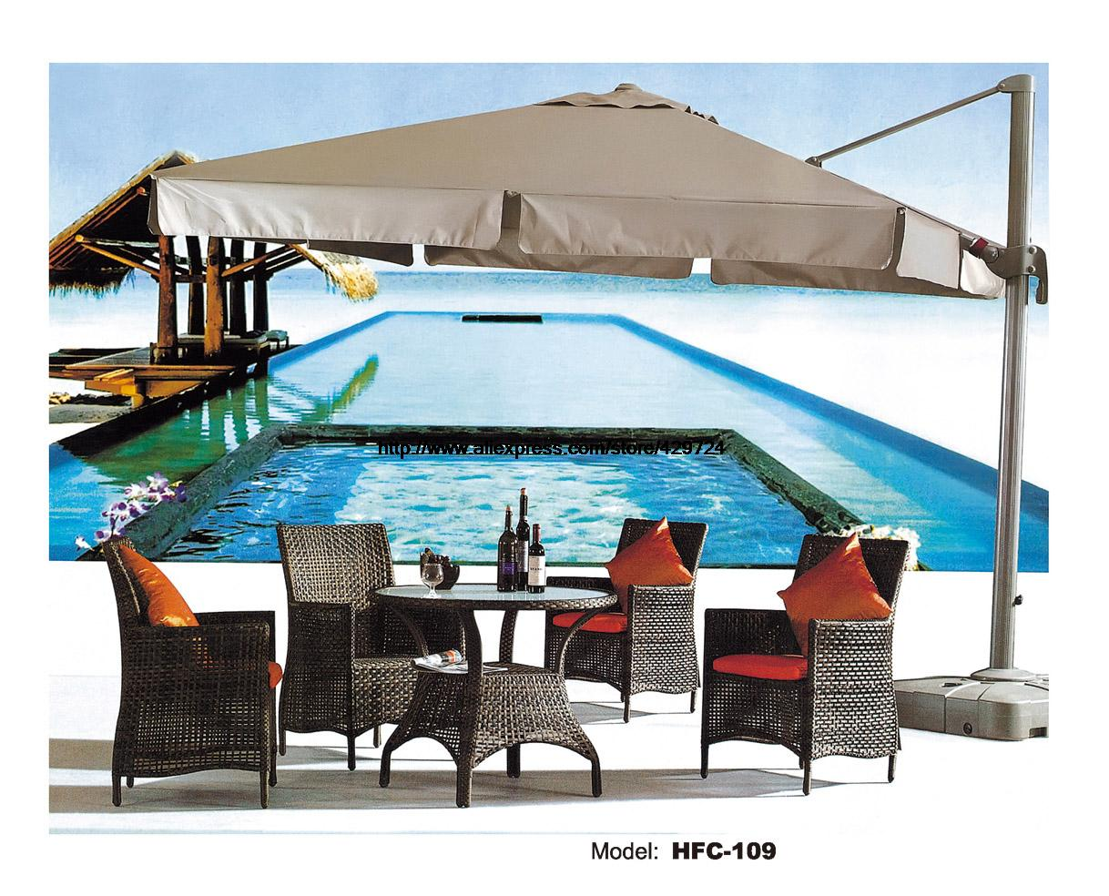 Rattan Leisure Chair Round Table Garden Set Factory Sale Outdoor Swing Pool Beach Furniture