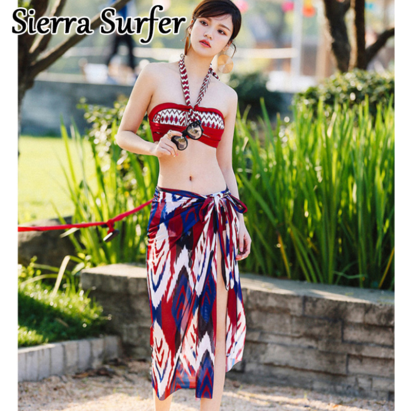 Female Swimwear Woman May Beach Women Swim Wear Suit Surf Plus Size 2018 Sexy Three Piece Swimming Underwire Push Up Swimsuit swimming suit for women sexy one piece swim suits may beach girls plus size swimwear 2017 new korean push up d 16117 mayo maio