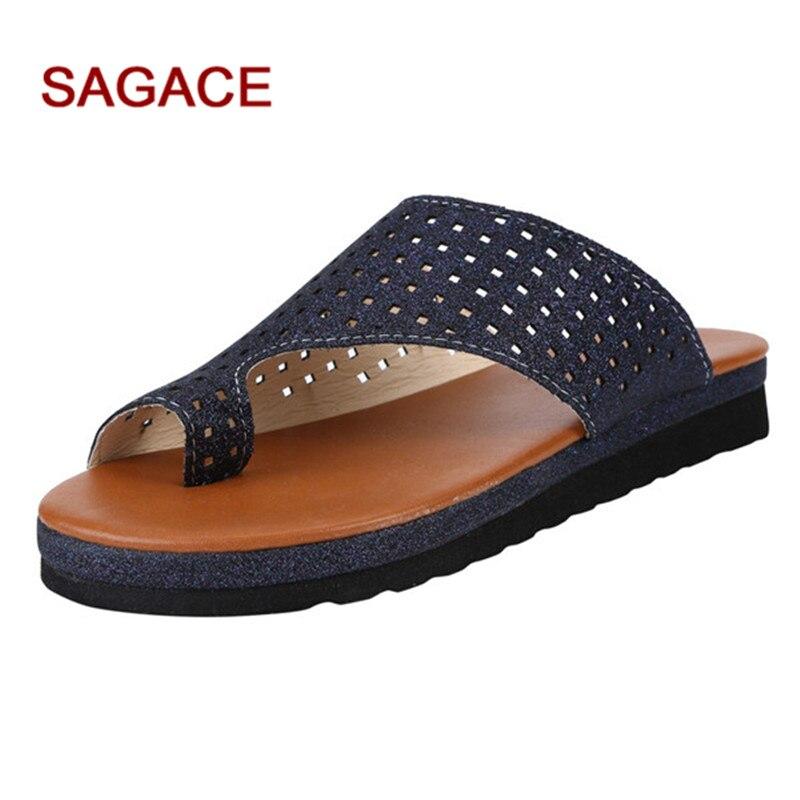 Sandals Roman Flats Rope Beach-Slippers Open-Toe Slip-On Womens Fashion -Summer 0 Wedges