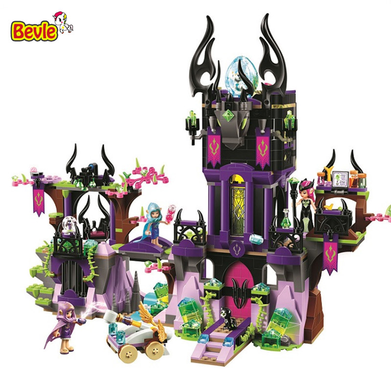 Bevle 10551 Bela Ragana's Magic Shadow Castle Kid Toys Model Building Kits Block Bricks Compatible With LEPIN Fairy 41180 10551 elves ragana s magic shadow castle building blocks bricks toys for children toys compatible with lego gift kid set girls