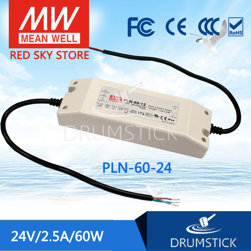 цена Original MEAN WELL PLN-60-24 24V 2.5A meanwell PLN-60 24V 60W Single Output LED Power Supply