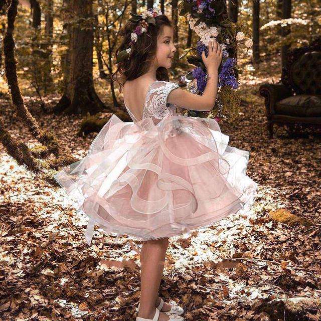 Новое Детское кружевное платье для девочек, школьная церемония, Детские платья для девочек, официальная вечерняя одежда, вечерние платья принцессы, драпированные платья одежда