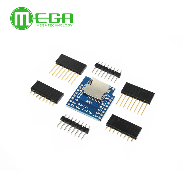 US $0 73 5% OFF|Micro SD Card Shield For D1 Mini TF WiFi ESP8266 Compatible  SD Wireless Module For Arduino For D1 Mini-in Integrated Circuits from