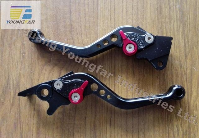 Performance CNC Brake Levers / Handle Levers for GY6 Scooter / Electrical Bike with front disc brake and rear drum brake system