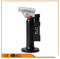 Inflatable Flame Thrower Butane Lighter Automatic Piezo Electricity Ignite Gas Torch Camping BBQ Soldering Welding