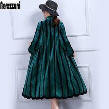 Nerazzurriluxury の毛皮のコート女性 5xl 6xl