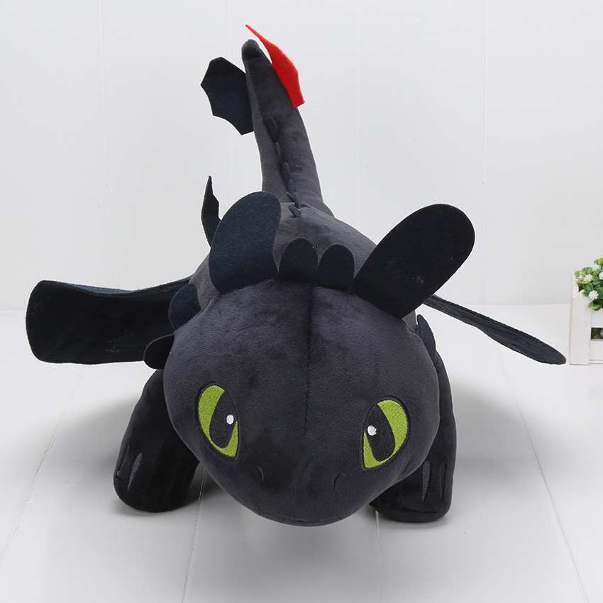 23 55cm Night Fury Plush Toy How To Train Your Dragon 2 Toothless