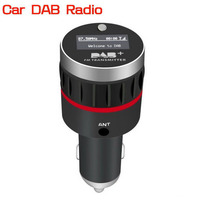 dawupine Digital DAB Radio Receiver DAB+ with FM Transmitter Function Cigarette Lighter Interface Launcher Car Charger