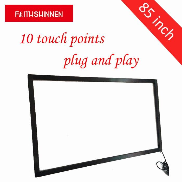Cadre d'écran tactile multi d'ir de 85 pouces avec le contact d'usb 10 points pour le système de Windows/Android/Linux/MAC
