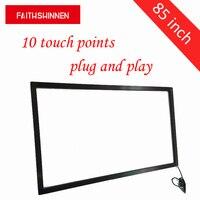 Polegada IR multi touch frame de tela com USB 10 85 pontos touch para Windows/Android/Linux/MAC sistema