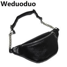 Weduoduo 2019 New Fashion Waist Bag Women Fanny Packs Belt Luxury High Quality PU Leather Chest Handbag Red Black