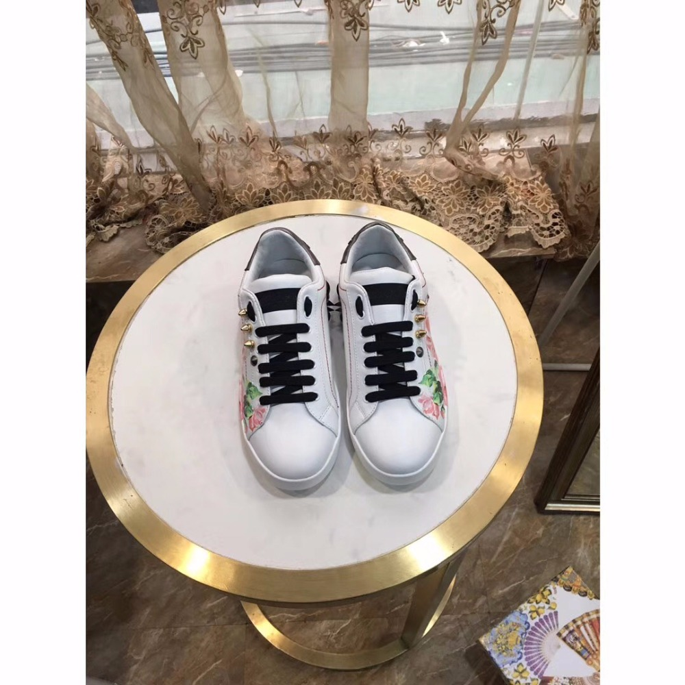 New arrival woman 2018 summer Rivet shoes ,genuine leather Lace-Up flower rhinestones decorated garden shoes bfdadi 2018 new arrival hat genuine