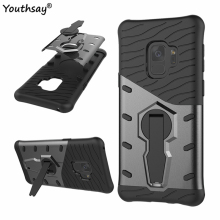 цена на For Cover Samsung Galaxy S9 Case Armor Silicone Phone Case For Samsung Galaxy S9 Shell For Samsung Galaxy S9 Kickstand Coque