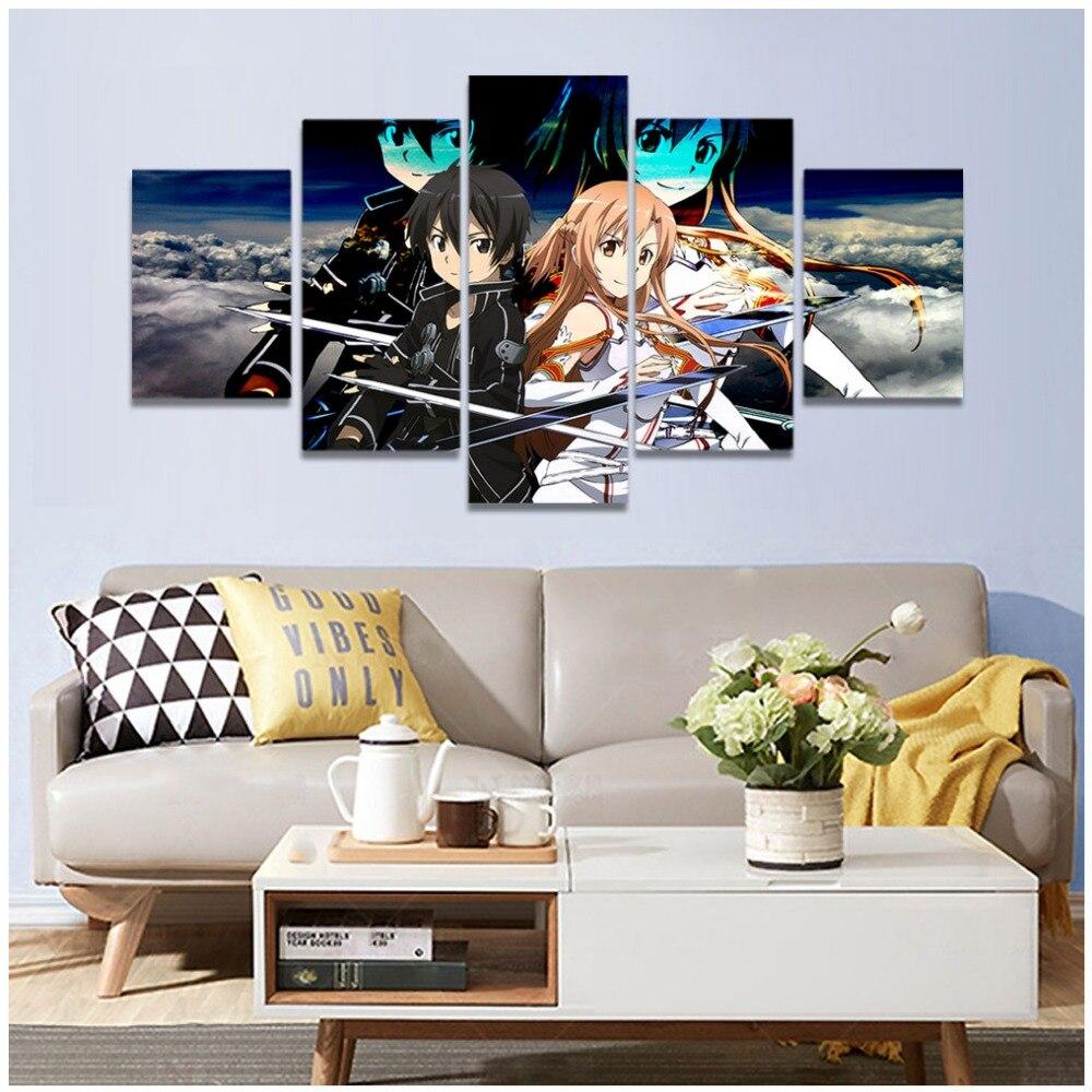 Hd Print Sword Art Online Canvas Painting Decoracion Anime