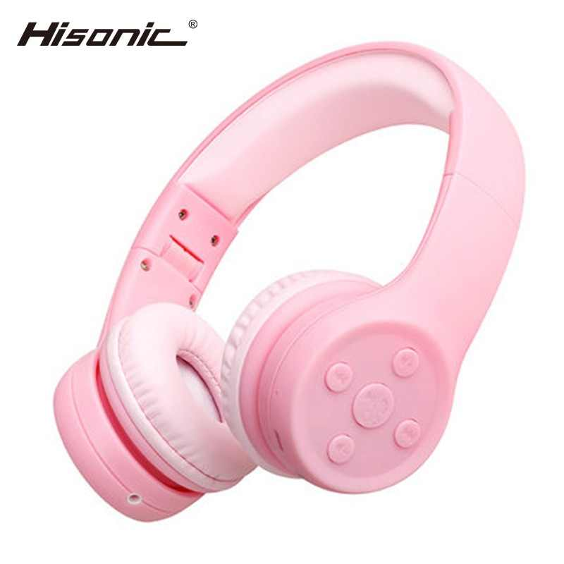 52baee6dab3 Hisonic Kids Headphone Foldable Noise Reduction Child Earphone Headset  Wireless headset with Microphone kid headset bs