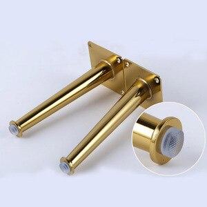 Image 3 - 4 Uds 80x200mm oro recto cono del Gabinete de muebles de armario metal piernas patas de la Mesa de carga 2000 Lbs equipamiento para mejorar el hogar