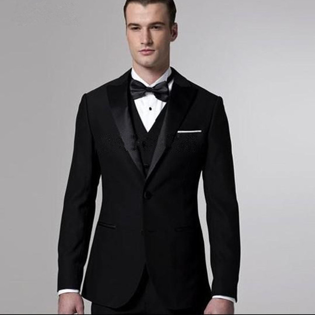 992cb2f1810 2018 Latest Coat Pant Designs Black Men Suits Slim Fit Formal Custom Groom  Prom Tuxedo 3 Piece Blazer Business Dress Suit Ternos