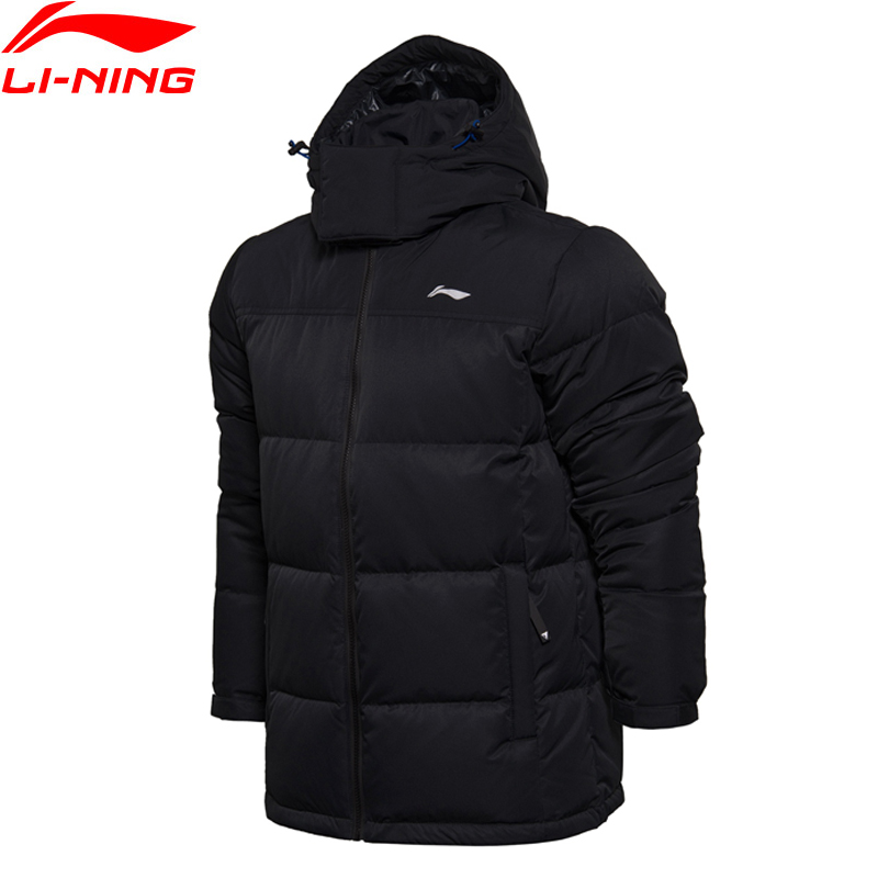 Li-Ning Men Sports Life Short Down Jacket Warm Keep Hoodie Fitness Comfort LiNing Winter Jackets AYMM185 MWY286 original li ning men professional basketball shoes