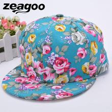 3429ae01556 zeagoo Fitted Hip-hop Floral Flower Adjustable Strap Snapback Cap Headwear  For Women