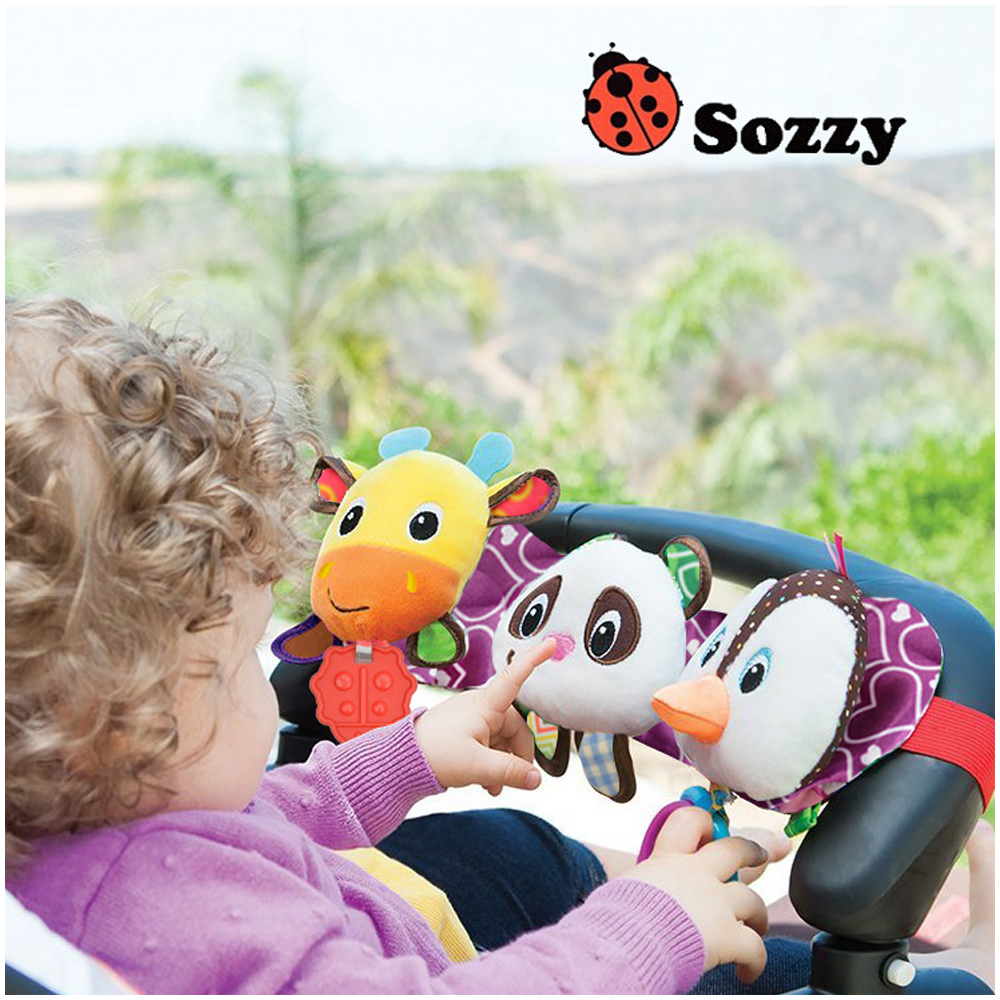 Sozzy Musical Baby Toys Stroller Cot Bed Hanging Crib Mobile Soft Panda Deer Penguin Plush Rattle Teether Toy For Newborn Babies