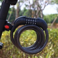 U119 New 5 Digit Bicycle Combination Cable Cycling Bike Security Password Lock 1200x12mm