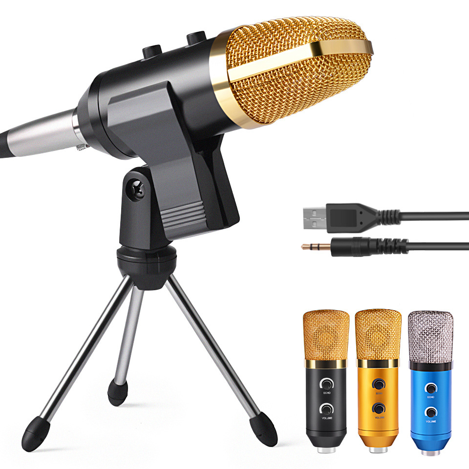 Condenser microphone with reverb adjustment youtube anchor live microphone for youtuber recording mic studio mic voice changer image