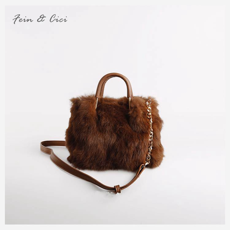 really fur bag women winter warm bag luxury design messenger bag cute small evening party handbag grey pink brown winter fashion fur evening bag for lady handbag women day clutch small tote wristlet bag messenger bag pochette shopping bag