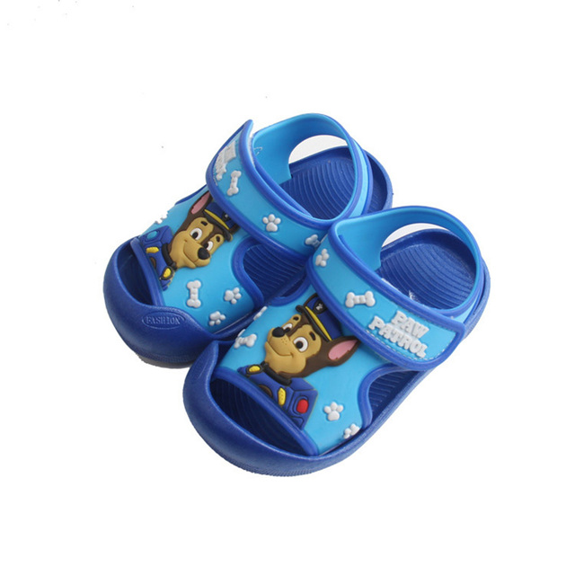 PAW PATROL Children Shoes Summer Home Shoes Sandals and Slippers Baby Shoes For Girls Boys Non-slip Beach Shoes For Kids