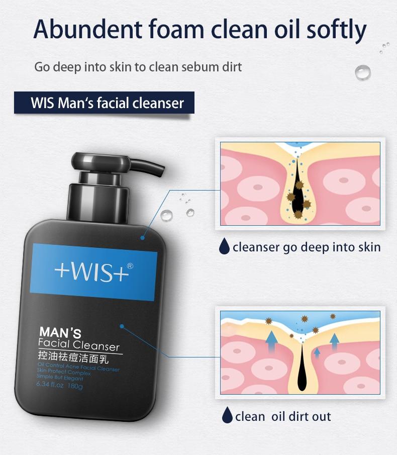 WIS activated carbon olie controle gezichtsreiniger diepe schone poriën Mee eter acne remover - 5