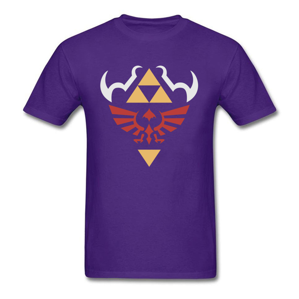 Casual Short Sleeve Tops Shirt Labor Day Round Collar 100% Cotton Men T Shirt Birthday Casual Sweatshirts Designer Zelda Hylian Shield Ocarina of Time Shirt 2 purple