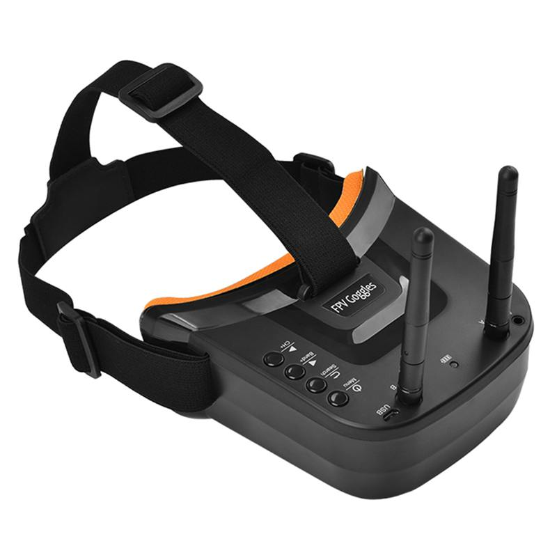 Mini FPV Goggles 3 inch 480x320 Display Double Antenna Reception 5.8G 40CH with Battery for RC FPV Racing Drone Quadcopter|3D Glasses/ Virtual Reality Glasses| |  - title=