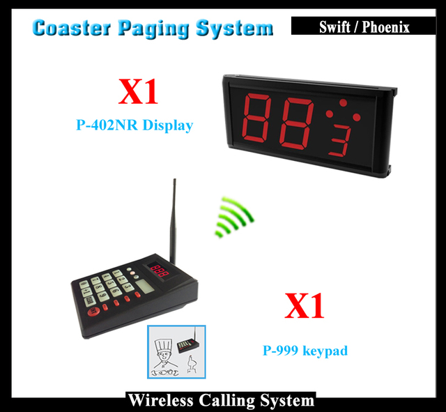 Restaurant Electronic Numbering System With Wireless Keypad Call - Restaurant table numbering system