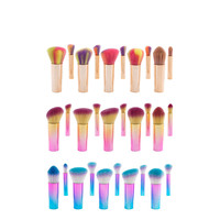 10pcs Professional Premium Makeup Brushes Set Portable Chubby Pier High Quality Foundation Blending Powder Cosmetic Tool