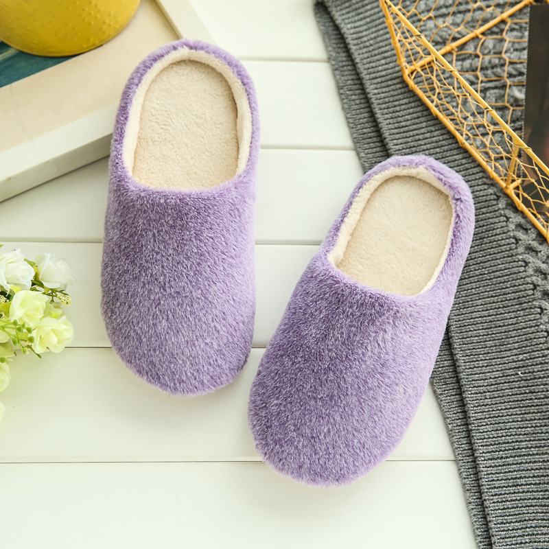 Unisex Indoor Slippers 2019 Spring Winter Flat Shoes Woman Soft Sole Cotton Slipper Slip On Female House Bedroom Slippers