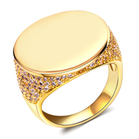 Brand Fashion Jewelry Moon Rings For Women 18K Gold Plated Platinum Plated High Quality Cubic Zircon