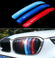 Styling Accessories ABS 3D M Style 3 Color Front Grille Girll Cover Trim Sticker Car Styling