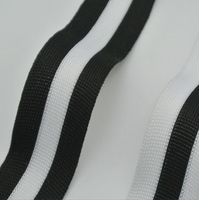 10mm 15mm 20mm 25mm 75yards Lot Polyester Woven Webbing Ribbon Striped Black White Elastic Handmade Knitted